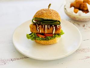 Recipe: Vegan Katsu Tofu Burger