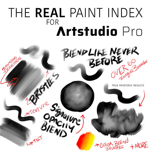 The Real Paint Index for Artstudio Pro (Single Set)