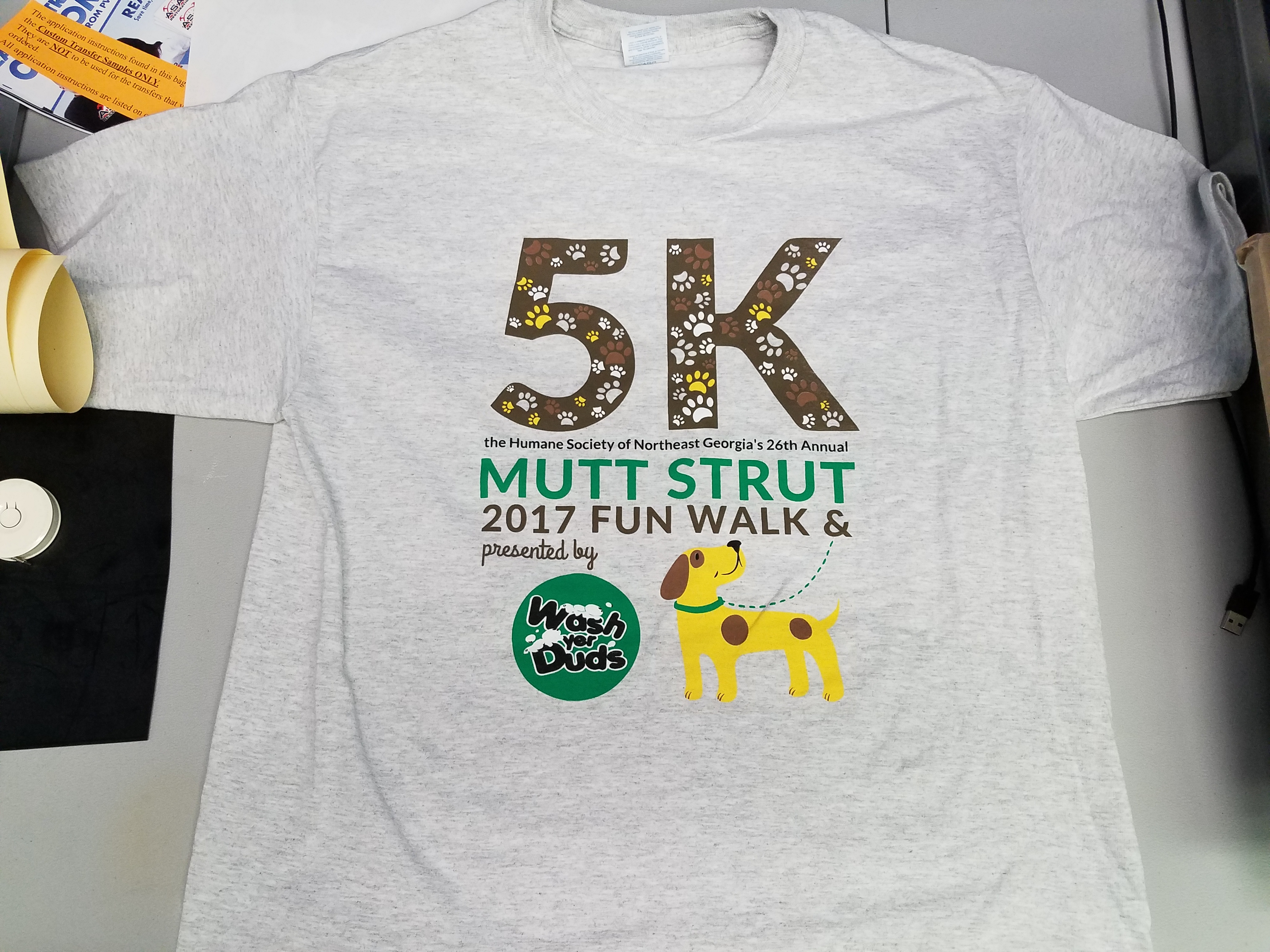 5K Charity Run Shirts