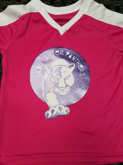 Soccer Jersey with glitter ink