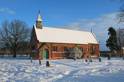 St John the Baptist Church in Winter