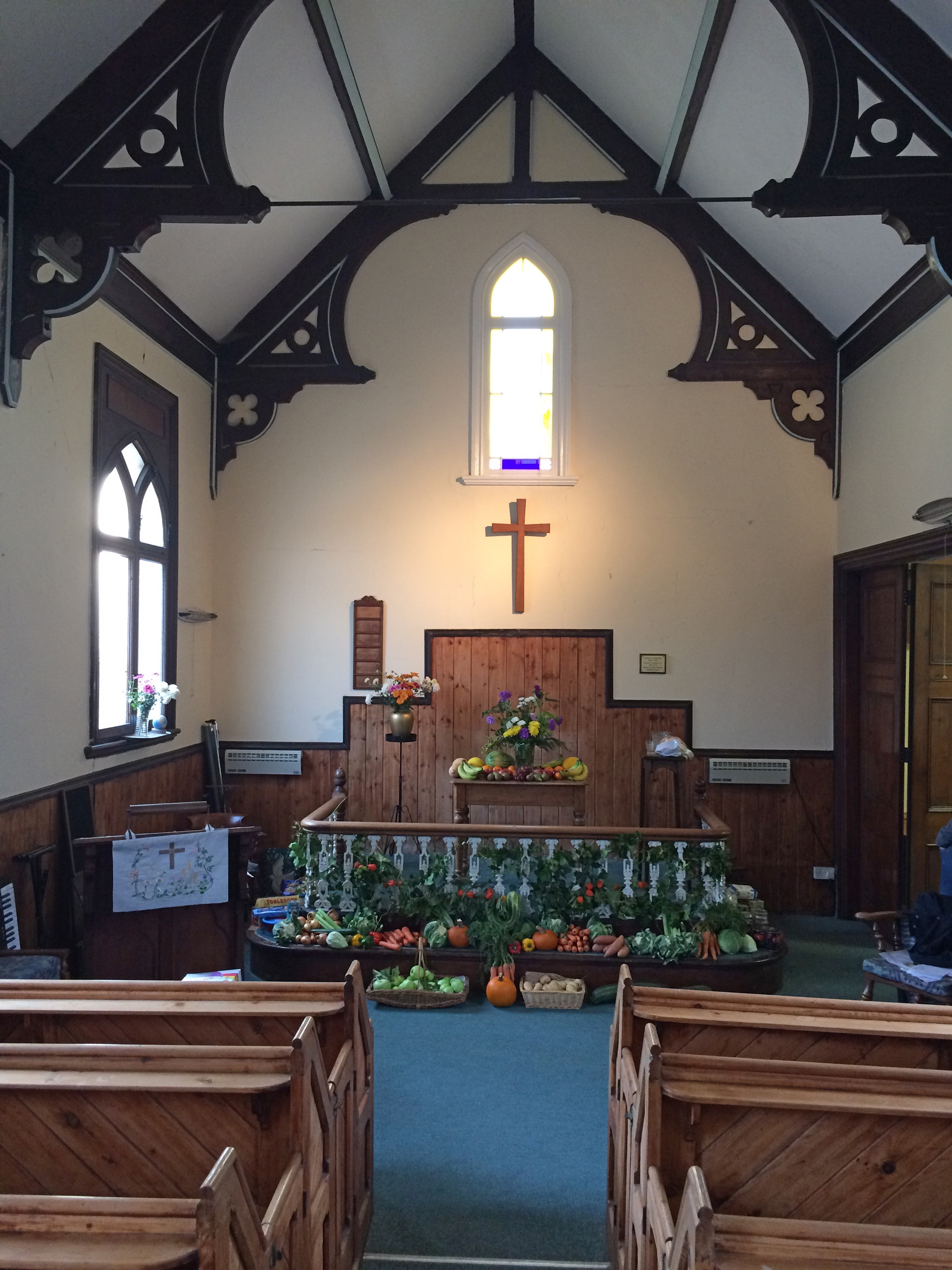 interior of Hessay Methodist Chapel (2018)