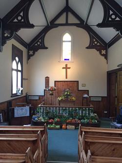 interior of Hessay Methodist Chapel (2018)