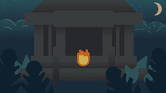 Fire Finding the Temple