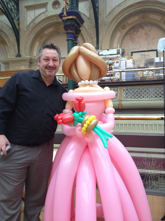Balloon Lady life size
