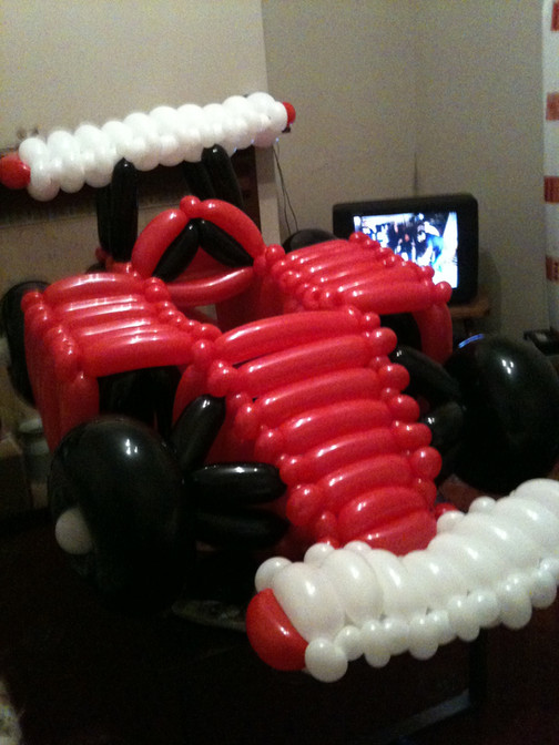 Ferrari Balloon Sculpture