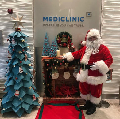 Santa is MediClinic choice to entertain the sick children at Christmas time.