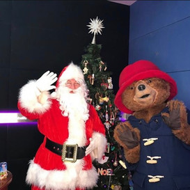 Special guest along side Paddington bear at Dubai 92 radio station.