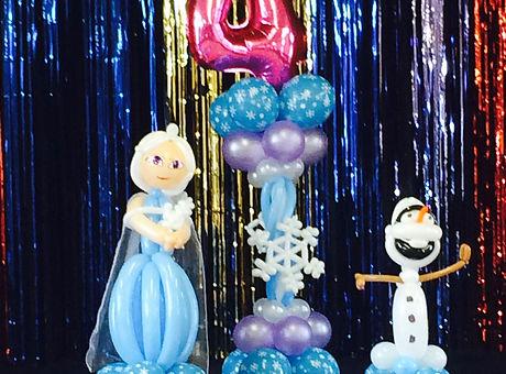 Else & Olaf. Frozen theme.