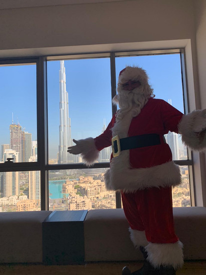 Private visit with a view of the Burj Khalifa.