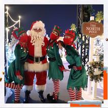 Santa and his naughty Elves at La Mer's North Pole event