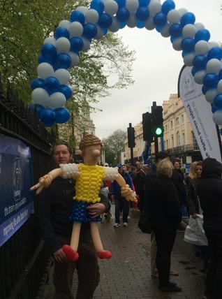 London Marathon Balloon Sculpture