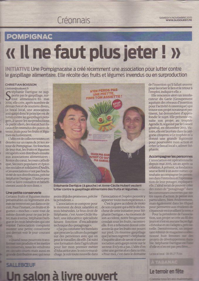 Article Sud-Ouest 14-11-15