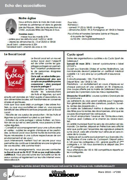 Article Mensuel Salleboeuf Mars 2016