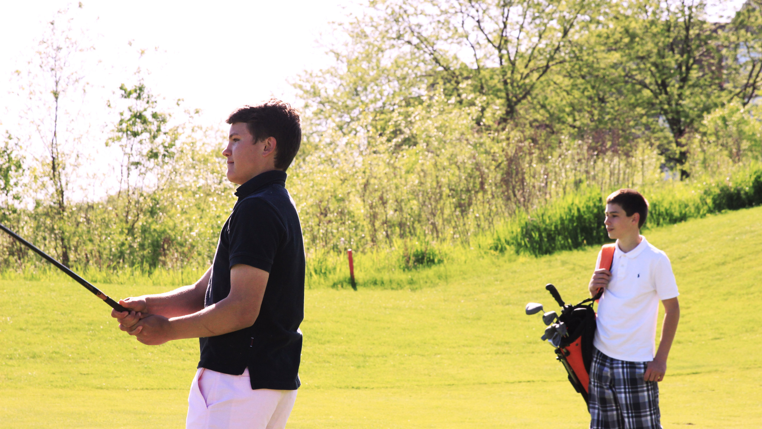 Junior Golfers on Player Course