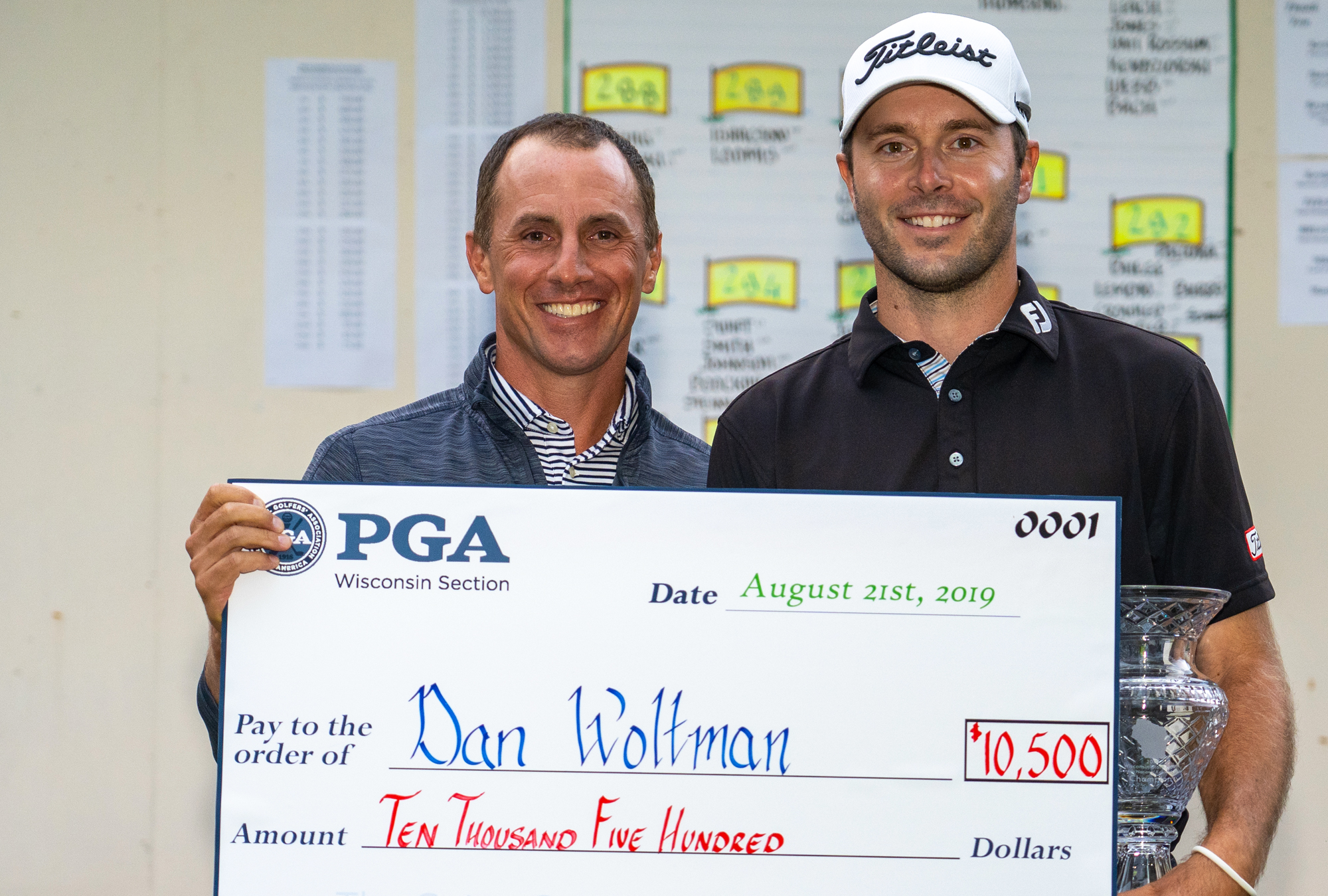 Dan Woltman with check