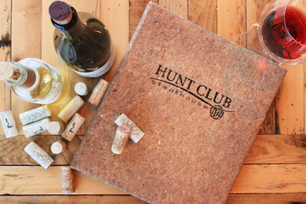 Hunt Club Wine Menu