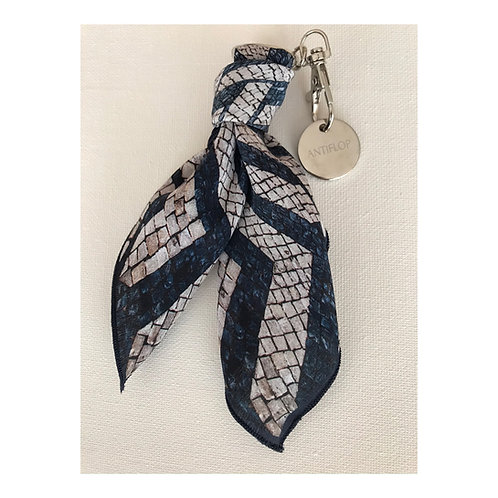 Key Ring  -Scarf Silk_Portuguese Pavement