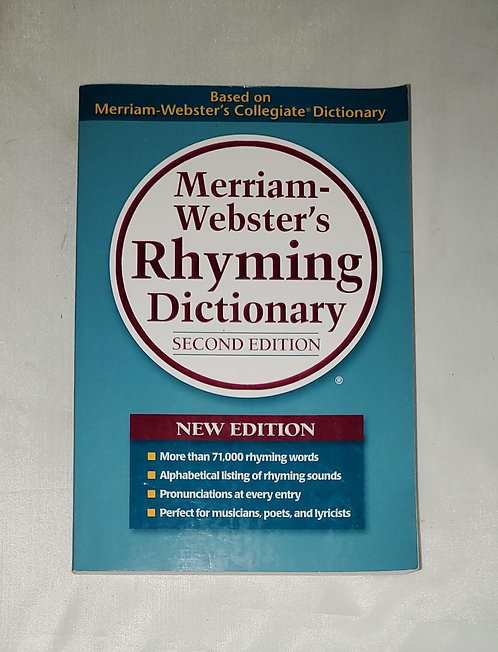 Merriam-Webster's Rhyming Dictionary Second Edition