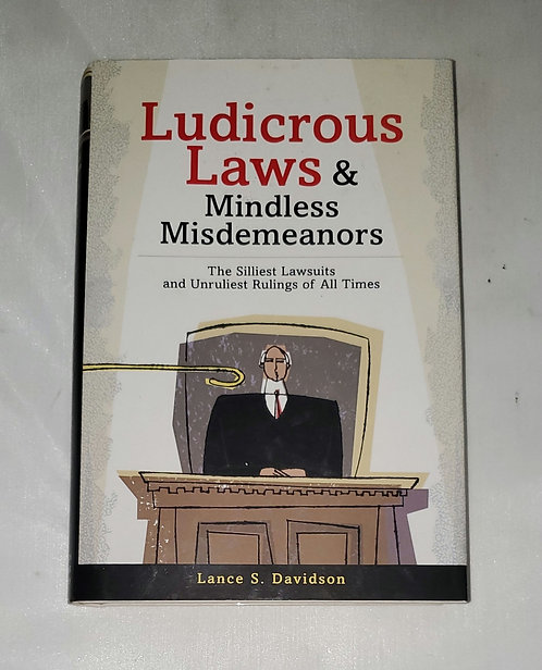 Ludicrous Laws & Mindless Misdemeanors by Lance S. Davidson