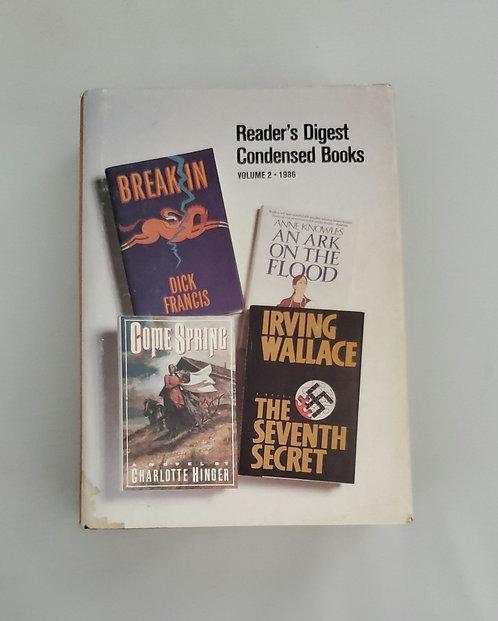 Reader's Digest Condensed Books Volume 2 1986
