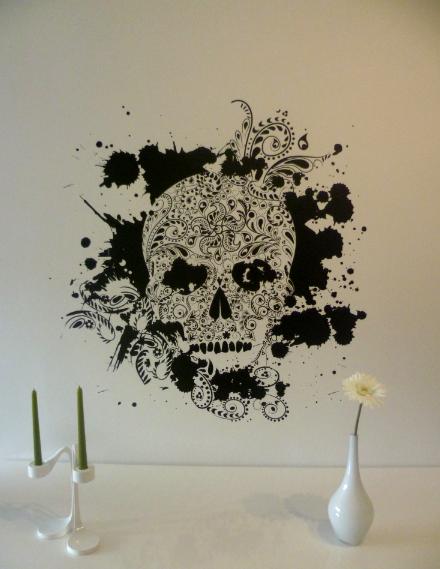 Skull Head Mur