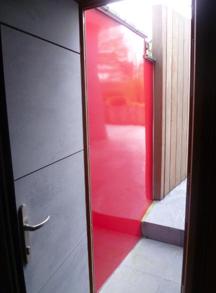 Mur vinyle Rouge