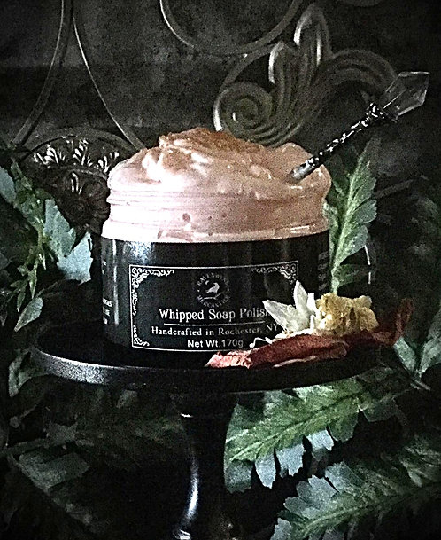 8 oz Sacred Space Whipped Soap Polish with flip top