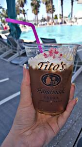 Tito's Cold Brew w/Candy Cane Crumbles