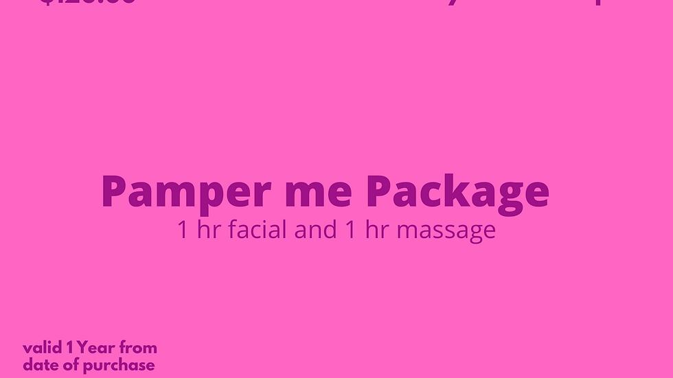 Pamper Me Package Gift Card