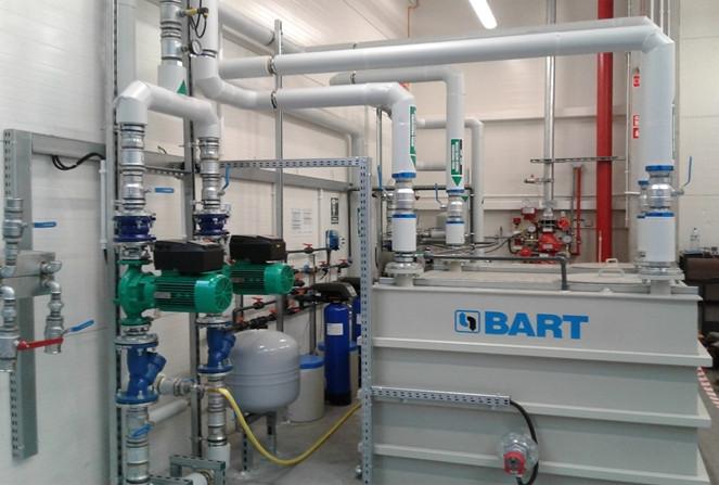 Instalacja wody procesowej do testowania nagrzewnic