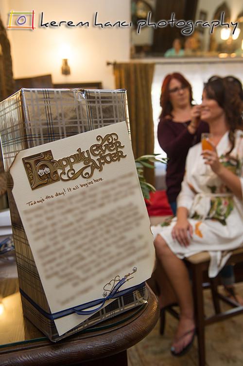 The bride is getting ready at The Villa San Juan Capistrano