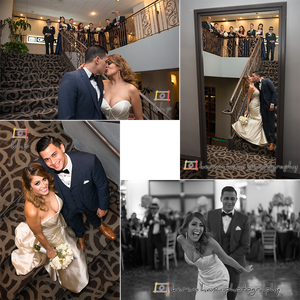 The beautiful couple and their wedding party at The Hills Hotel in Laguna Hills, CA