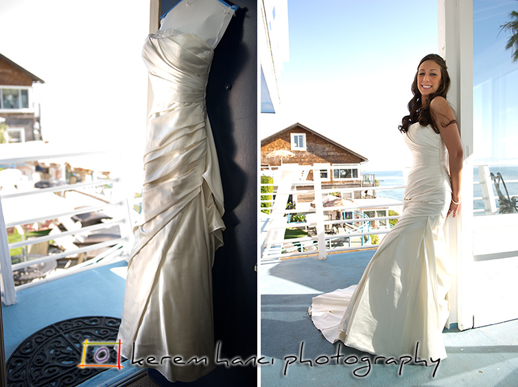 Sara's Wedding Dress in Laguna Beach, CA