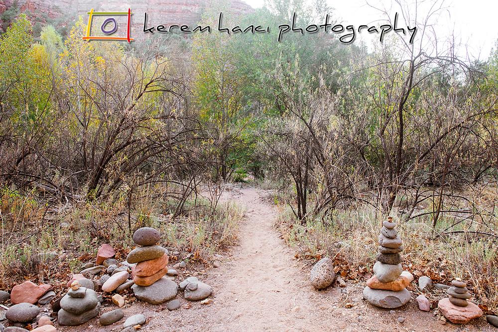 "The ""entrance"" to the Buddha Beach by the Oak Creek in Sedona, AZ"