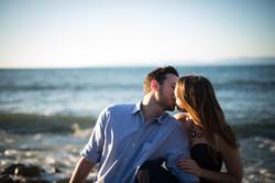 Kiss on Lunada Bay Beach Engagement
