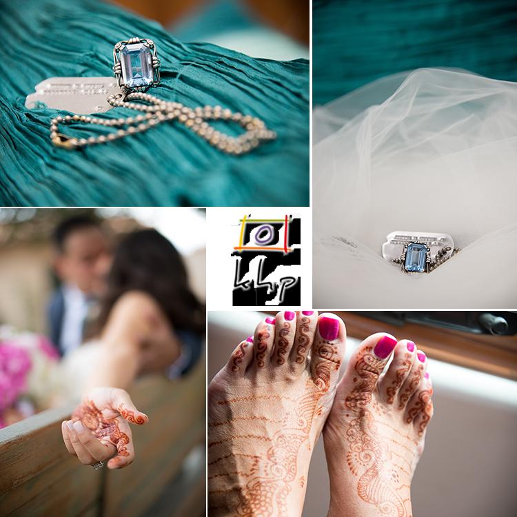 The bride's jewelry and hennas at Malibu's Rancho Chiquita