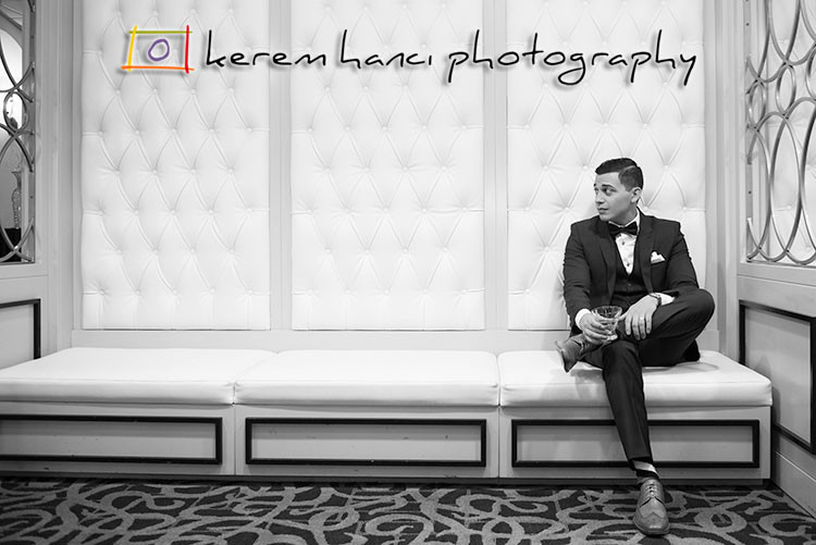 Abel, the handsome groom, at The Hills Hotel in Laguna Hills, CA