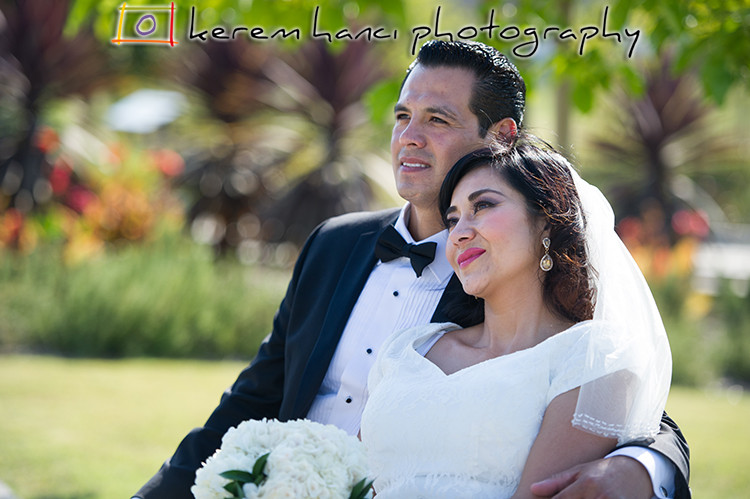 Bride and Groom's Wedding Portraits at Los Angeles Historic State Park in Chinatown