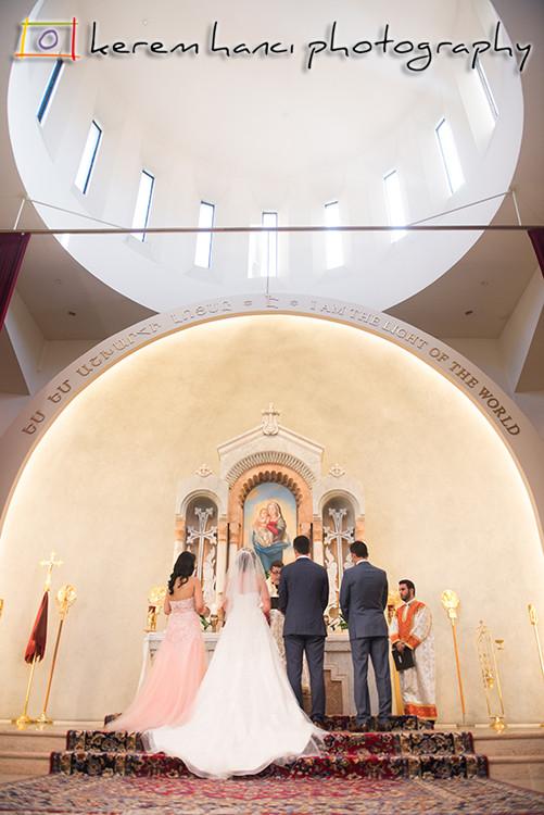 Wedding Ceremony at St. Gregory Armenian Catholic Church in Glendale, CA