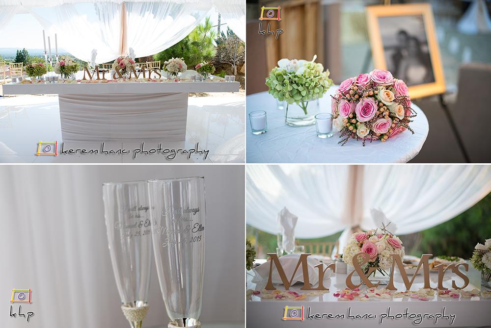 The wedding reception details.