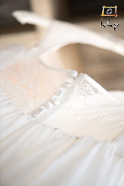 Wedding gown detail in Pioneertown, CA