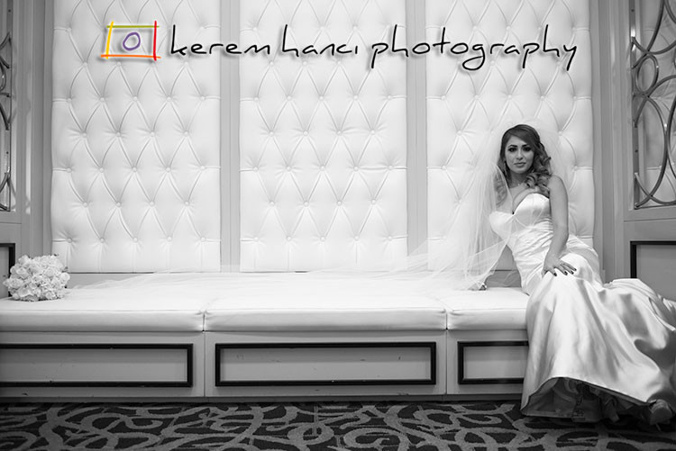 Leslie, the beautiful bride, at The Hills Hotel in Laguna Hills, CA