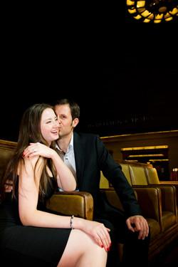 Union Station DTLA Engagement Kiss