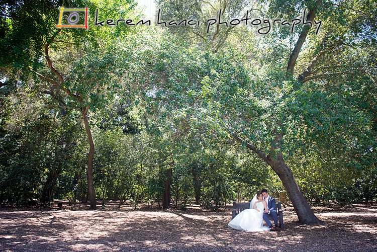 Newlywed Portraits in Descanso Gardens