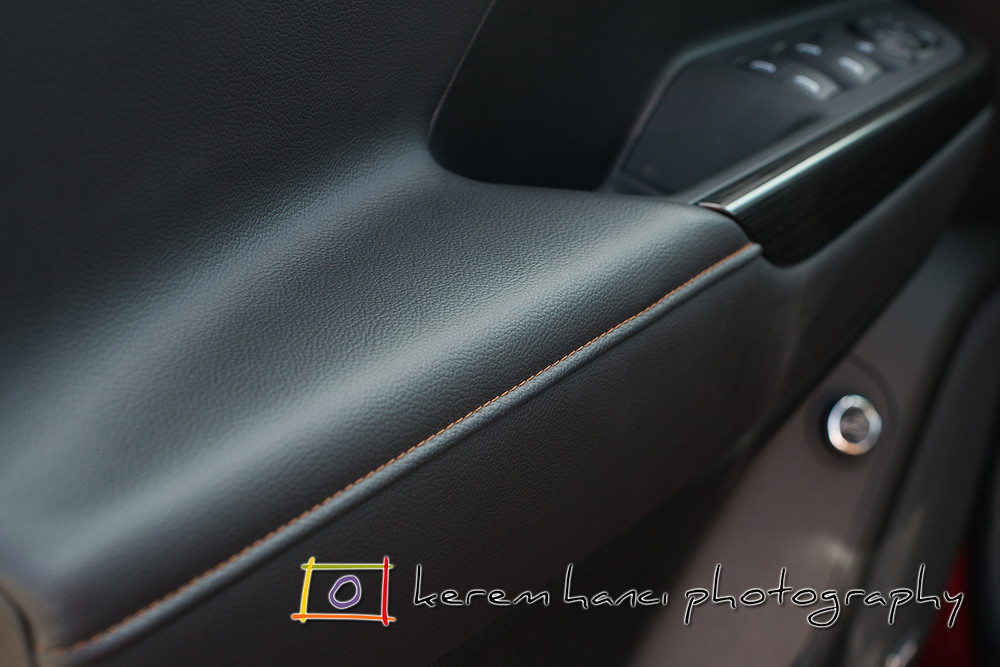 Perforated Leather Interior of 2018 GMC Acadia