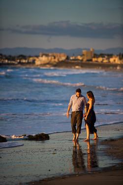 Walk on Lunada Bay Beach Engagement
