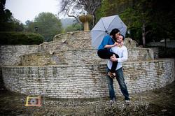 Palos Verdes Engagement Under Rain