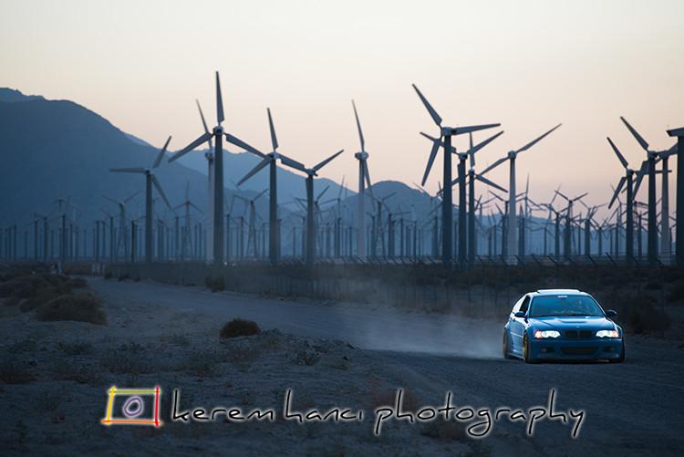 Palm Springs Wind Farm, King Amir, BMW, M3
