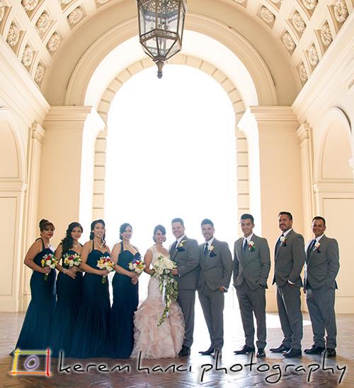 Wedding Party at the Pasadena City Hall